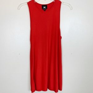 W By Worth | Red Long Flowy Tank Top Petite